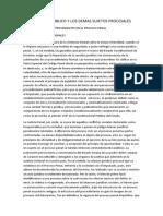 EL MINISTERIO PÚBLICO Y LOS DEMAS SUJETOS PROCESALES