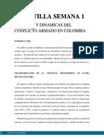 Cartilla semana 1 - orígenes y dinámicas del conflicto armado en Colombia
