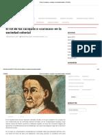 El rol de los caciques o «curacas» en la sociedad colonial