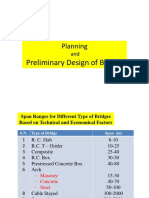 planning and preliminary design of bridge