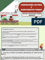 auge-CARRION-06-06-2018  COMPRENSION  LECTORA Y  RAZONAMIENTO VERBAL  REFERENTES TEXTUALES
