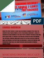LDM2 Course for Teachers Overview