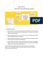 KD 3.15 Mengevaluasi kesesuaian hasil produk dengan rancangan