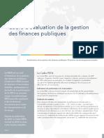 PEFA_2016_Cadre d'évaluation de la gestion des finances publiques_Synthèse