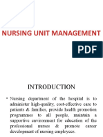 Management of Nursing care Unit.pptx