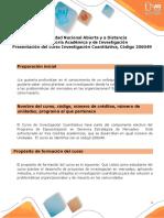 Presentación del curso Investigacion Cuantitativa