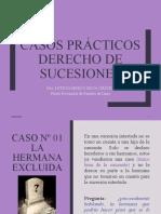 CASOS PRACTICOS DERECHO DE SUCESIONES