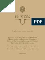 Modelo de planeamento e gestão da manutenção em edifícios escolares caso de estudo nas escolas do ensino básico do Concelho da Lousã