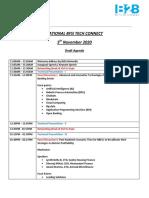 Draft Agenda - National  BFSI Tech Connect 2020