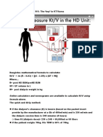 Hemodialysis Kinetics