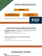 Antithyroid Medications