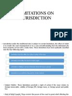 Limitations on Jurisdiction