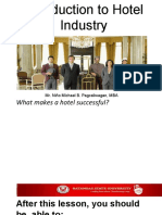 Introduction to Hotel Industry