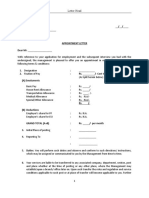 Appointment Letter-Format