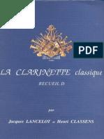 clarinet classique D