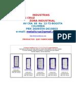 Industrias Metalicas CRUZ- Productos-Av 68