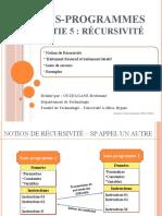 0016- Sous-programmes (Partie 5 - Récursivité)