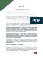 05. La inmigración en España