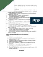 COMPARACIÓN DE VENTAS Y DESVENTAJAS DE LAS PLATAFORMAS VISTAS EN LAS SESIONES