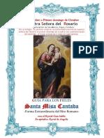 7 de octubre. Nuestra Señora la Virgen del Rosario. Guía de los fieles para la santa misa cantada. Kyrial Cum Iubilo. Apéndice Kyrial Angelis