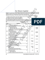 Accounting for Share Capital (9 Questions - 3 solved and 6 unsolved)