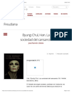 Ubieto-Byung-Chul, Han. La sociedad del cansancio – Freudiana