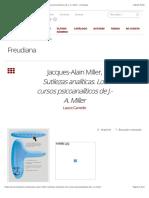 Canedo-Jacques-Alain Miller, Sutilezas analíticas. Los cursos psicoanalíticos de J.-A. Miller – Freudiana