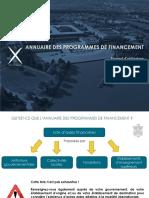 Annuaire des programmes de financement - manuel d'utilisation