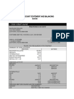Bank Statement Template 12