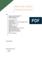 Temario del Curso Electronica Basica