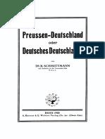 B. Schmittmann, Preussen-Deutschland oder deutsches Deutschland (1920)