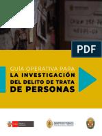 Guía Operativa para la Investigación del Delito de Trata de Personas