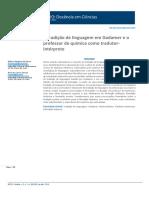A tradição de linguagem em Gadamer e o professor de química como tradutor-intérprete