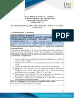 Guía de actividades y rúbrica de evaluación - Unidad 2 - Tarea 2 - Límites y Continuidad