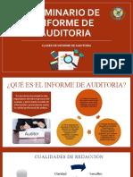 CLASES DE INFORME DE AUDITORIA