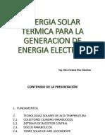ENERGIA SOLAR TERMICA PARA LA GENERACION DE ELECTRICIDAD