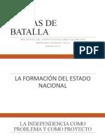 CARTAS DE BATALLA. LA INDEPENDENCIA COMO PROBLE Y COMO PROYECTO