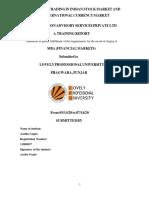 Internship Project on Jmarathon Advisory services