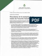 El informe final de la autopsia a Facundo Astudillo Castro