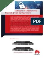 HUAWEI HiSecEngine USG6600E Series Firewalls (Fixed-Configuration) Datasheet