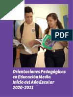 Orientaciones Pedagógicas 2020 2021 Inicio Año Escolar Educación Media