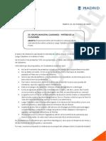 Nota interna de Cs Madrid sobre Largo Caballero y Prieto