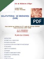 dilatation de branche-DDB- Cours 3ème année Chirurgie Générale. Dr BOUSSENSLA
