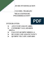 Reacciones de polimerizacion