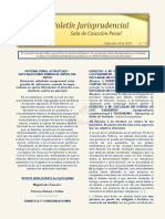 Boletín Jurisprudencial n.º 13 del 30 de septiembre de 2020