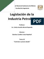 Tarea 10 Legislación de la Industria Petrolera