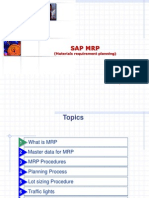 SAP MRP - Materials Requirements Planning