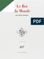 LE ROI DU MONDE - Rene Guenon