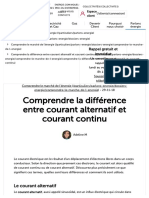 Comprendre la différence entre courant alternatif et courant continu - Total Direct Energie