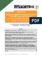 CR Assemblee Generale Recherche-Action